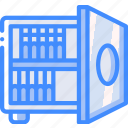 disaster, data, safe, tape, backup, recovery icon