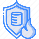 disaster, database, backup, protected, data, recovery icon