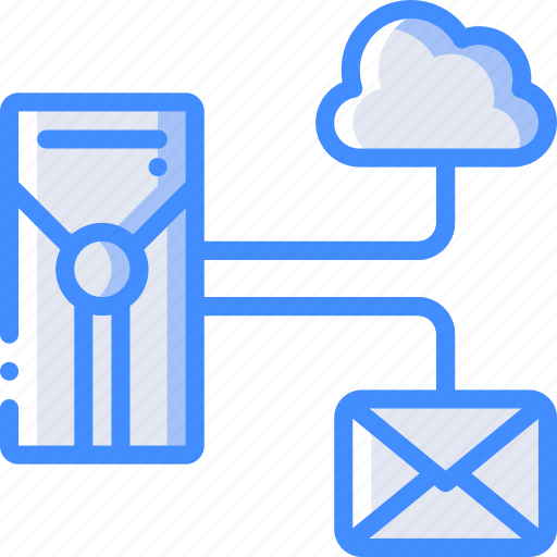 backup, cloud, data, disaster, email, recovery, server icon