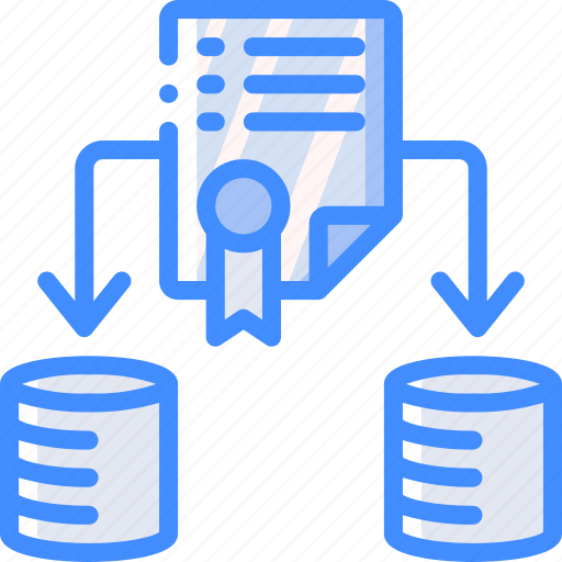 backup, certificate, data, disaster, recovery, securty icon