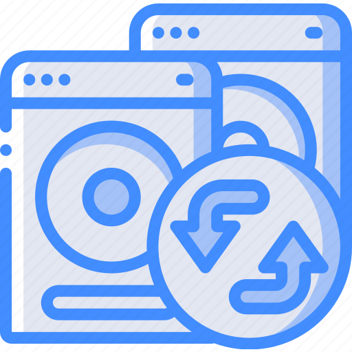 backup, clone, data, disaster, drive, recovery icon