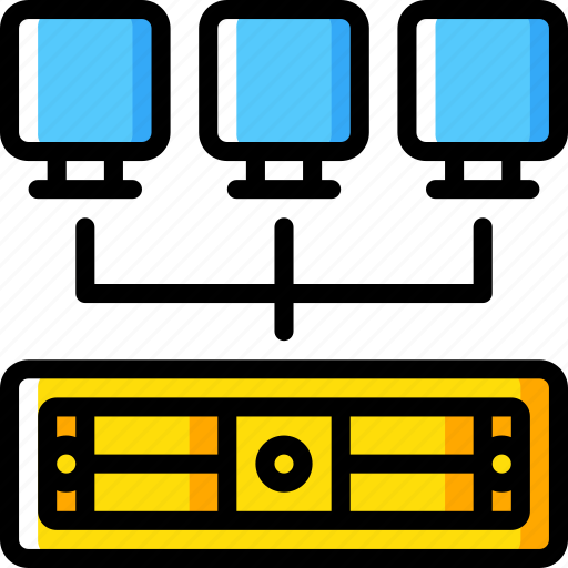 backup, data, disaster, recovery, server, vm icon
