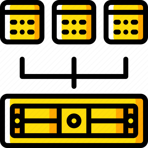backup, data, disaster, recovery, server, shared icon