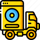 back, backup, data, disaster, recovery, trasnport, up icon