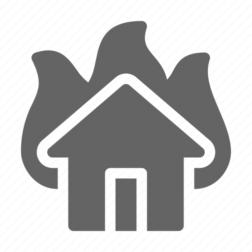 Accident, arson, fire, house icon - Download on Iconfinder