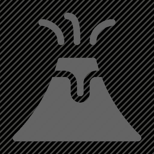 disaster, eruption, volcano icon