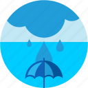 cloud, disaster, flood, umbrella, waterdrops icon