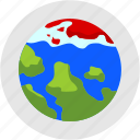 disaster, global, melting, pole, warming, world icon