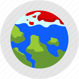 disaster, global, melting, pole, warming, world icon