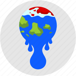 disaster, global, melting, pole, warming, water icon