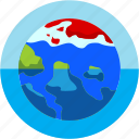 disaster, flood, global, melting, pole, warming icon