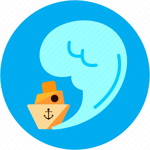 boat, disaster, huge, sea, ship, waves icon