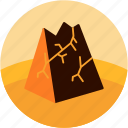 break, crumbling, disaster, fall, mountain icon