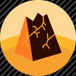 break, crumbling, disaster, fall, mountain icon