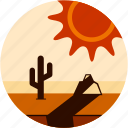 cactus, dessert, disaster, rock, shadow, sun icon