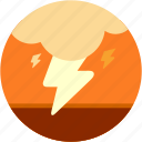 cloud, disaster, lightening, storm icon