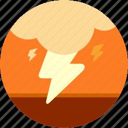 cloud, disaster, lightening, storm icon