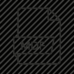 .mdf, .mdf file, mdf, mdf file, mdf icon, media disc image, media disc image file icon