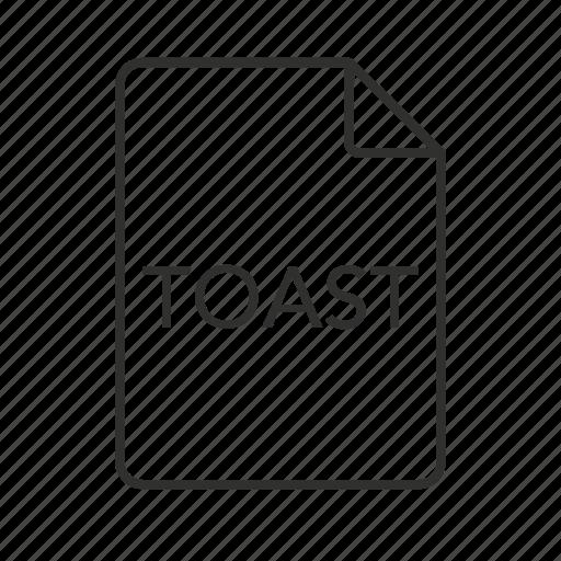 .toast, .toast icon, toast, toast disc image, toast disc image file, toast file, toast icon icon
