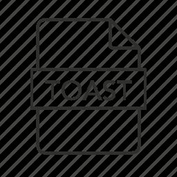 .toast, .toast file, toast, toast disc image, toast disc image file, toast file, toast icon icon