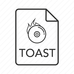 .toast, toast, toast disc image, toast disc image file, toast file, toast icon, toast image icon
