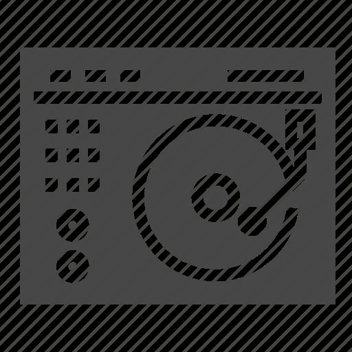 disco, dj, turntable icon