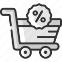 cart, discount, offer, online, sale, shop, shopping icon