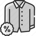 clothing, discount, fashion, offer, sale, shirt, shopping icon
