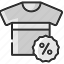 black friday, clothing, discount, fashion, sale, shirt, t-shirt icon