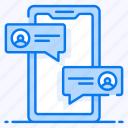 chatting, conversation, forum, group chat, messaging, mobile communication, public group