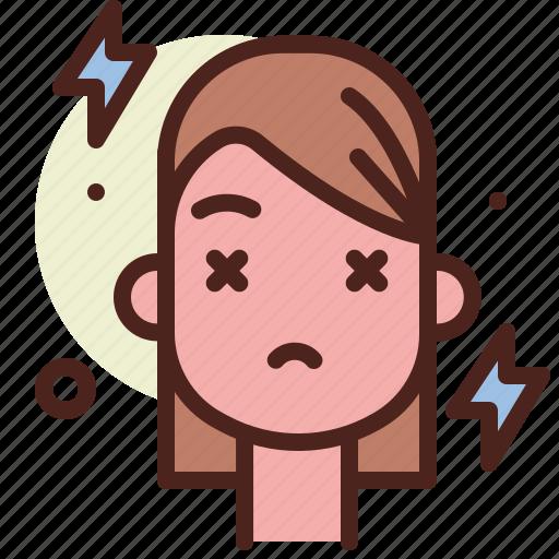 headache, health, illness, medical icon