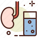 health, illness, kidney, medical, water icon
