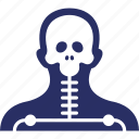 body, body x ray, head, radioactive, skeleton icon