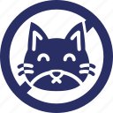 animal, care, cat, cat allergy, forbidden icon