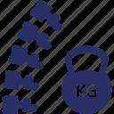 braces weight, diseases, dumbell, kg, kilogram icon
