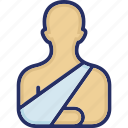 arm, arm injury, bandage, broken, arm infection icon