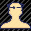 body, disease, dizziness, head, head phone icon