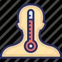 body, cold, fever, hot, temperature icon