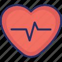 attack, cardio, heart, life, pulse icon