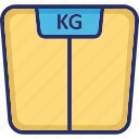 diet, fitness, measure, scale, weight scale icon