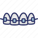 brackets, braces, support, dental braces, teeth braces icon