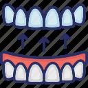 braces, dental, mouth, orthodontics, stomatology, teeth icon