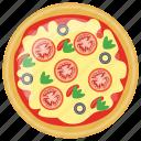 fast food, italian pizza, italian traditional dish, quiche, school lunch icon