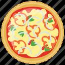 bbq chicken pizza, fast food, italian pizza, italian traditional dish, school lunch