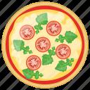 fast food, italian pizza, italian traditional dish, pizza margherita, school lunch