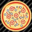 fast food, italian pizza, italian traditional dish, italian vegetarian pizza, school lunch