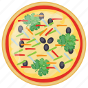 fast food, grilled vegetable pizza, italian pizza, italian traditional dish, school lunch