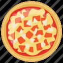 cheesy garlic pizza, fast food, italian pizza, italian traditional dish, school lunch