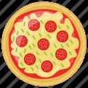 fast food, fresh tomato pizza, italian pizza, italian traditional dish, school lunch icon
