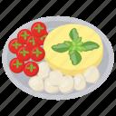 fresh mozzarella tomato salad, healthy salad, organic food, salad for dinner, weight loss diet